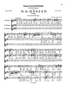 Caro bell' idol mio, K.562: Caro bell' idol mio by Вольфганг Амадей Моцарт