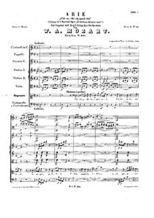 Chi sà, chi sà, qual sia, K.582: Chi sà, chi sà, qual sia by Вольфганг Амадей Моцарт