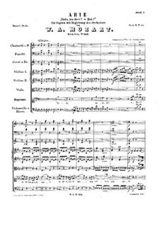 Vado, ma dove? Oh Dei, K.583: Партитура by Вольфганг Амадей Моцарт