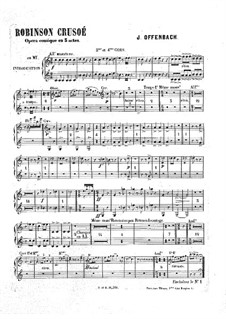 Робинзон Крузо: Партия третьей и четвертой валторн by Жак Оффенбах
