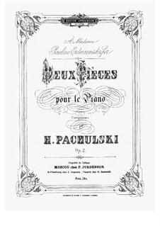 Две пьесы для фортепиано, Op.2: Сборник by Генрих Пахульский