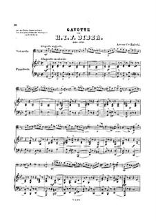 Восемь сонат для скрипки и бассо континуо, C.138-145: Соната No.6. Гавот, для виолончели и фортепиано, C.143 by Генрих Игнац фон Бибер