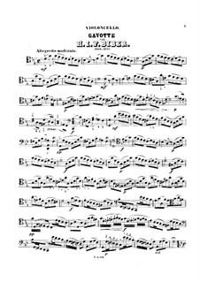 Восемь сонат для скрипки и бассо континуо, C.138-145: Соната No.6. Гавот, для виолончели и фортепиано – сольная партия, C.143 by Генрих Игнац фон Бибер