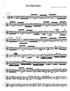 К Элизе, WoO 59: For flute solo by Людвиг ван Бетховен
