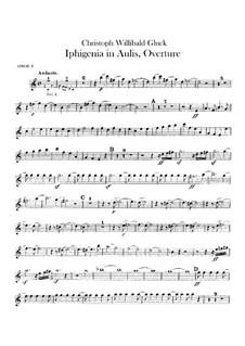 Ифигения в Авлиде, Wq.40: Увертюра – партии гобоев by Кристоф Виллибальд Глюк