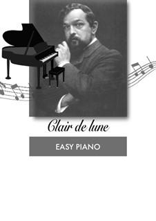 No.3 Лунный свет, для фортепиано: Easy version by Клод Дебюсси
