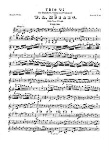 Трио для скрипки, виолончели и фортепиано до мажор, K.548: Партия скрипки by Вольфганг Амадей Моцарт