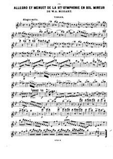 Фрагменты: Части I, III, для скрипки, виолончели и фортепиано – партия скрипки by Вольфганг Амадей Моцарт