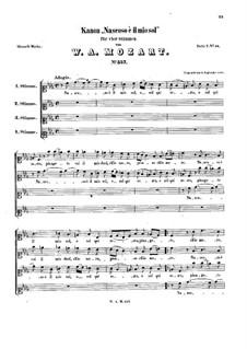 Nascoso è il mio sol, K.557: Nascoso è il mio sol by Вольфганг Амадей Моцарт