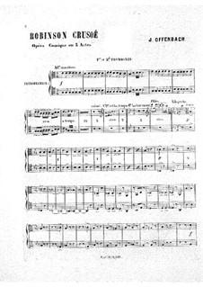 Робинзон Крузо: Партия первого и второго тромбонов by Жак Оффенбах