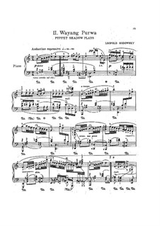 Яванская сюита: No.2 Wayang Purwa by Леопольд Годовский