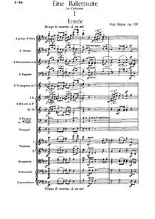 Балетная сюита ре мажор, Op.130: Партитура by Макс Регер