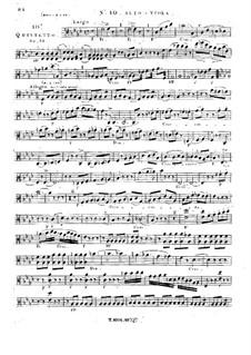 Струнный квинтет No.10 фа минор, Op.32: Партия I альта by Жорж Онсло