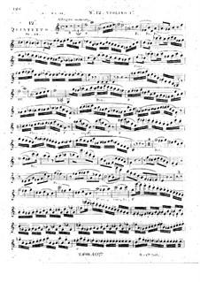 Струнный квинтет No.12 ля минор, Op.34: Скрипка I by Жорж Онсло