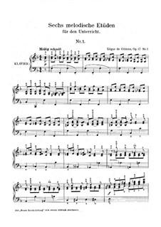 Шесть мелодических этюдов, Op.17: Этюд No.1 by Edgar de Glimes