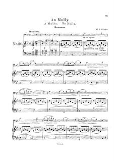 Прощание с Петрбургом : No.11 К Молли для виолончели и фортепиано by Михаил Глинка