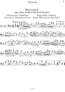 Песня сироты: Для виолончели и фортепиано – сольная партия by Михаил Глинка