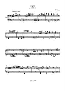 Маленький пианист, Op.823: Этюд No.31 by Карл Черни