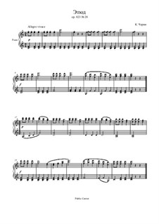 Маленький пианист, Op.823: Этюд No.28 by Карл Черни