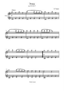 Маленький пианист, Op.823: Этюд No.27 by Карл Черни