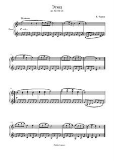 Маленький пианист, Op.823: Этюд No.24 by Карл Черни