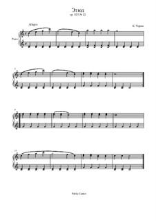 Маленький пианист, Op.823: Этюд No.22 by Карл Черни