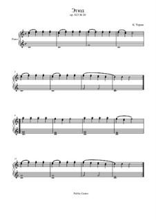 Маленький пианист, Op.823: Этюд No.20 by Карл Черни