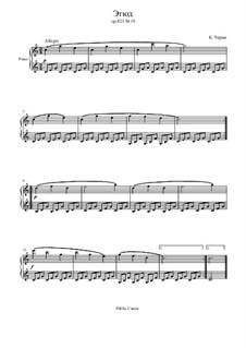 Маленький пианист, Op.823: Этюд No.19 by Карл Черни