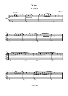 Маленький пианист, Op.823: Этюд No.18 by Карл Черни