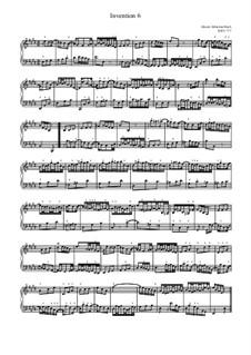 No.6 ми мажор, BWV 777: For piano by Иоганн Себастьян Бах