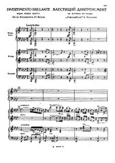 Блестящий дивертисмент на темы из оперы Беллини: Для двух фортепиано в шесть рук by Михаил Глинка