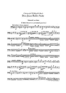 Дон Жуан. Балетная сюита, Wq.52: Партия виолончели и контрабаса by Кристоф Виллибальд Глюк