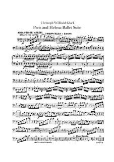 Балетная сюита: Партия виолончели и контрабаса by Кристоф Виллибальд Глюк