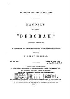 Дебора, HWV 51: Акт I by Георг Фридрих Гендель