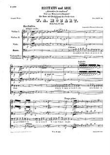 Alcandro, Io confesso, K.512: Alcandro, Io confesso by Вольфганг Амадей Моцарт