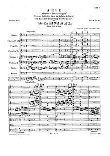Mentre ti lascio, o figlia, K.513: Mentre ti lascio, o figlia by Вольфганг Амадей Моцарт