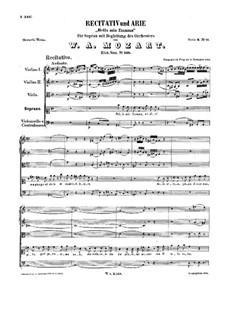 Bella mia fiamma. Recitative and Aria, K.528: Bella mia fiamma. Recitative and Aria by Вольфганг Амадей Моцарт