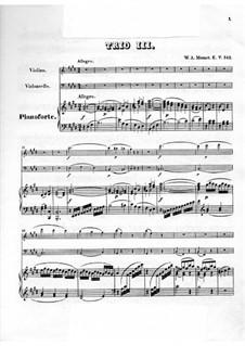 Трио для скрипки, виолончели и фортепиано No.3 ми мажор, K.542: Партитура, Партии by Вольфганг Амадей Моцарт