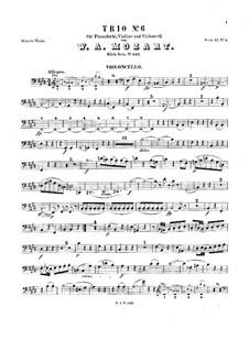 Трио для скрипки, виолончели и фортепиано No.3 ми мажор, K.542: Партия виолончели by Вольфганг Амадей Моцарт