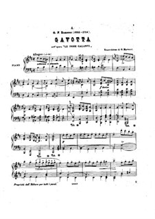 Галантная Индия, RCT 44: Гавот, для фортепиано by Жан-Филипп Рамо