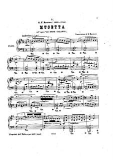 Галантная Индия, RCT 44: Мюзет, для фортепиано by Жан-Филипп Рамо