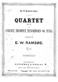 Брасс-квартет No.3 ми-бемоль мажор, Op.30: Партии by Вильгельм Рамсю