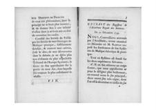 Демонстрация принципа гармонии: Extrait des registres de l'Académie Royale des sciences by Жан-Филипп Рамо