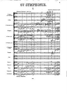 Симфония No.5 си-бемоль мажор, Op.55: Партитура by Александр Глазунов