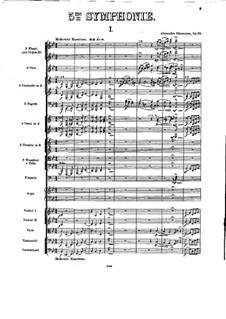 Симфония No.5 си-бемоль мажор, Op.55: Часть I by Александр Глазунов