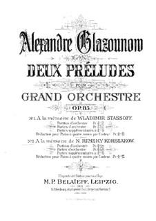 Прелюдия No.2 для оркестра, Op.85: Прелюдия No.2 для оркестра by Александр Глазунов