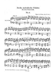 Шесть мелодических этюдов, Op.17: Этюд No.4 by Edgar de Glimes
