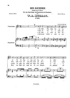 Der Zauberer, K.472: For voice and piano by Вольфганг Амадей Моцарт
