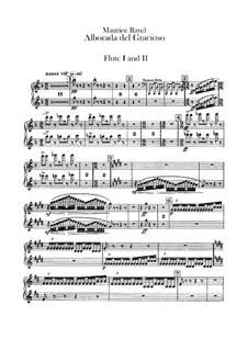 Отражения для оркестра, M.43a: Часть IV Альборада – партии флейт by Морис Равель
