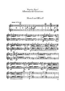 Отражения для оркестра, M.43a: Часть IV Альборада – партии валторн by Морис Равель
